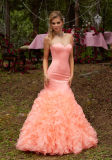 2017 Mermaid Ruffle Prom Party Bridesmaid Evening Dresses ED1701