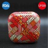 Cuadrado de regalo de estaño y caja de lata de frutas secas (s001-v19)