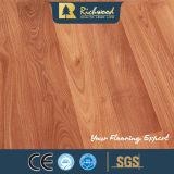 Plancher en bois stratifié résistant gravé en relief de l'eau de chêne blanc de noix d'E0 HDF