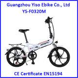 20 인치 소형 폴딩 전기 자전거 또는 숨겨지은 건전지 E 자전거