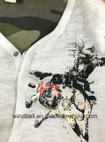 Maglietta del cotone del ringrosso per gli uomini con la stampa di gomma