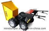 Mini dumper avec la brouette de pouvoir du lecteur à chaînes 4WD
