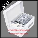 Botão de punho do laço de 100% seda Handmade e jogo tecidos do lenço