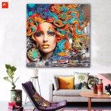 Peinture à l'huile neuve de verticale de femme de mode