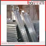Tablón de acero /Catwalk del andamio antirresbaladizo con el gancho de leva