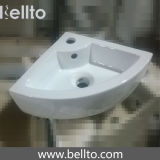 小さい壁によってハングさせるコーナーによって取付けられる洗面器(3503B)