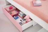 2017 Mobiliario de dormitorio de madera de moda Establece rosa cama para niños