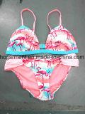 赤いカラー女性のための印刷されたセクシーな浜のビキニか女の子、水泳の摩耗の水着またはブラ