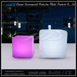 Cubo de los muebles LED del restaurante con el cambio de los colores