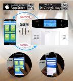 Sistema de alarma antirrobo de alta resolución sin hilos de la tarjeta del hogar OEM/ODM SIM