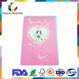 Heißer Verkaufs-Mattentzückende Geburtstag-Papierkarte mit Heart-Shaped Dekoration