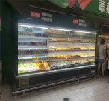 Refrigerador aberto da leiteria/bebida/vegetal/de ar do indicador Multideck das frutas para o supermercado