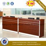 マホガニーカラーレセプションのカウンター表の木のメラミンオフィス用家具(HX-5N077)