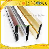 Perfil de alumínio das extrusões de alumínio Polished Shining para a decoração das mobílias