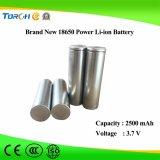Leistungs-und der Qualitäts3.7v nachladbare Lithium-Ionenbatterie 18650 für Flashlight/LED helle Fackel