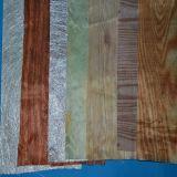Tissu coloré de polyester, tissu en bois, tissu de décoration, voile de Colorfur