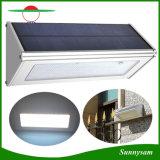 Nuevo sensor de radar luz solar 48LED aleación de aluminio IP65 de pared exterior Montado Seguridad Farola de alto brillo de la lámpara solar luz de la noche