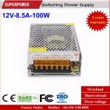 LED 점화를 위한 12V 8.5A 100W 엇바꾸기 전력 공급
