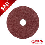 Rueda de disco de pulido de madera abrasiva de la fibra de la alta calidad