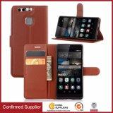 Caixa de couro do telefone da carteira do plutônio das Muti-Cores do prêmio para Huawei P9