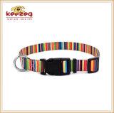 Nuevos collares de perro del gato de la impresión de la transferencia del estilo, correos que corresponden con por separado (KC0097)
