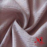 Rosafarbenes seidiges Knicken-Polyester-Chiffon- Gewebe für Kleid