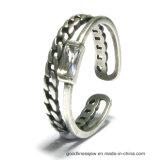 2017 New Desigen Men Rings com 925 Silver CZ (R10611)