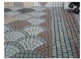 Cobblestone natural do jardim do granito/pedra de pavimentação para ao ar livre