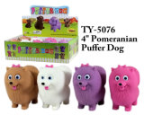 おかしく新しい4 ``Pomeranianのパッファー犬のおもちゃ