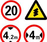Garantierte Qualitätseindeutige Verkehrsschilder und ihre Bedeutungen