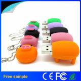 Lecteur flash USB porcin de PVC d'aperçu gratuit en gros en stock