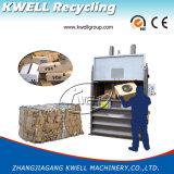 Empaquetadora de embalaje hidráulica vertical de las lanas de las ovejas/máquina de la prensa de la bala de la paja