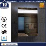 Espelho leve iluminado diodo emissor de luz decorativo fixado na parede do certificado do UL