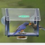 Alimentador de acrílico claro creativo del pájaro de la ventana con el ajuste según cliente