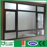 Guichet en verre de tissu pour rideaux en aluminium de profil de système de Rochetti avec la norme australienne