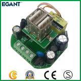 De dubbele AC van Haven 2 USB Afzet van de Lader van de Telefoon van de Veiligheid van de Adapter van de Macht van de Contactdoos van de Muur