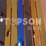 Blatt des Fabrik-Großverkauf-Rosen-Gold farbiges Edelstahl-Spiegel/8k
