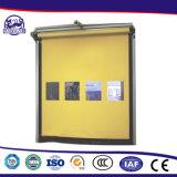 Aplicarse a la alta puerta plegable frecuentada de la persiana enrrollable del PVC de la velocidad rápida del canal de la logística