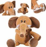 Giocattolo sveglio dell'elefante farcito peluche