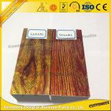 حبة جديدة خشبيّة ألومنيوم يتظاهر بثق لأنّ باب خشبيّة مع صنع وفقا لطلب الزّبون أشرطة ألومنيوم