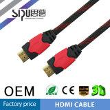 Cavi ad alta velocità del calcolatore del cavo dello schermo di nylon HDMI di Sipu 1.4V