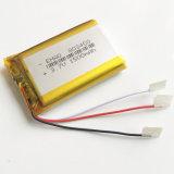 célula del ion de Li de la batería recargable de Lipo de la batería del polímero del litio de 3.7V 1500mAh 803450