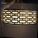 Lampe pendante en métal décoratif avec la nuance de toile