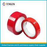 赤いカラー付着力のパッキングテープ