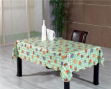 Fábrica impressa PVC não tecida de Oko-Tex 100 China do Tablecloth do revestimento protetor de LFGB