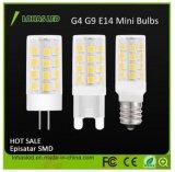 소형 LED 옥수수 전구 2835 3014 SMD G4 G9 E14 1W 1.5W 2W 2.5W 3W 5W 6W 7W