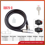 Jq8211-Q Qualitäts-Fahrrad-Verschluss-Spirale-Kabel-Verschluss mit Schlüsseln