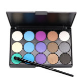 15 de Langdurige Make-up van het Palet van de Oogschaduw van kleuren die voor Vrouwen Es0298 wordt geplaatst