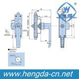 Yh9696 Verrouillage électrique de la poignée de porte en zinc noir pour armoire métallique
