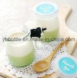 Frasco de vidro do leite/pudim